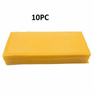 VBVA Lot de 10 tablettes de Cire d'abeille pour Apiculture Cadre doré 14 x 9,9 cm