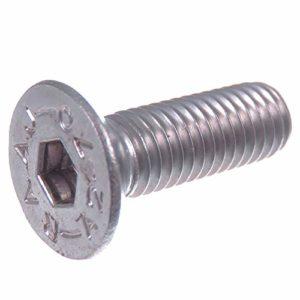 Vis à tête fraisée SECCARO M8 x 25 mm, acier inoxydable V2A VA A2, DIN 7991 / ISO 10642, emboîture hexagonale, 20 pièces