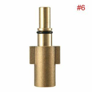 Adaptateur pour pistolet de pulvérisateur de lavage de voiture Mousse de neige Connecteur de lance Joint de laveuse à haute pression Adaptateur de pistolet à bouteille (ToGames)