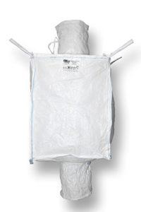 Enviro SUPERBAG Big Bag 90x 90x 115cm, bec et bec, résistant à la poussière par de feutre nahtabdichtung, SWL 1250Kg, Weiß, 300