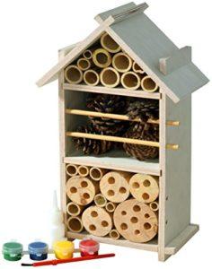 Luxus-Insektenhotels 22369FSC Fsc-Wood Ensemble Hôtel à Insectes pour Enfants à Construire et à Peindre