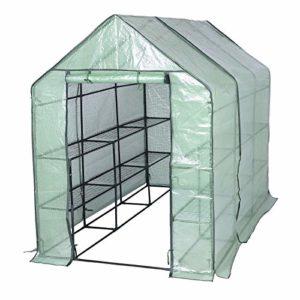 WOLTU GWH00302gn Serre de Jardin PE pour légumes avec Porte, Vert, 143x215x195cm