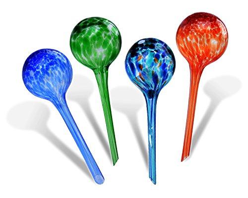 Fascigirl Globes d'arrosage, 4 Packs Automatique des Plantes en Verre Arroser des Globes Self Watering Aqua Globes Fleurs Drip Irrigation Outil