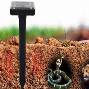 Harddo Solar Power Répulsif à ultrasons à Piles étanche pour rongeurs avec Souris Serpent 1 pièce Vert