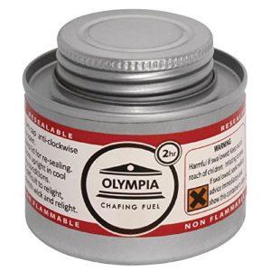 Olympia CB733 Lot de 12liquides à combustion 2heures Argenté