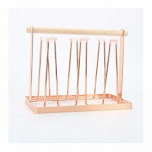 Porte-gobelet de drainage à l'envers, porte-gobelet en verre, étagère de rangement polyvalente en fer forgé créatif et créatif-Rosegold