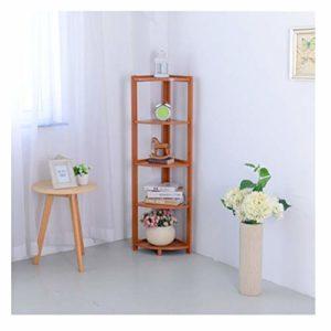 Rack de stockage multifonctionnel, décoration de jardinière de petite taille, porte-échantillon de combinaison de bibliothèque créative-Lightbrown