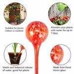 Topmail 4 Pièce Bulbes d'Arrosage Automatique Verre Globes d'Arrosage Goutte à Goutte pour Plantes, Coloré 6 * 15cm