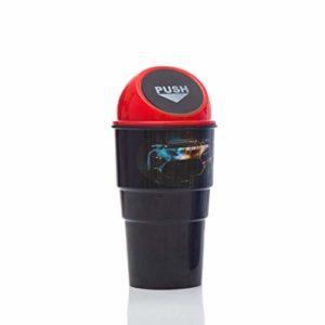 ZXYAN Poubelle portative Universelle de Voiture Poubelle Mini Poubelle Peut avec Poubelle Poubelle de Voiture Porte-Tasse