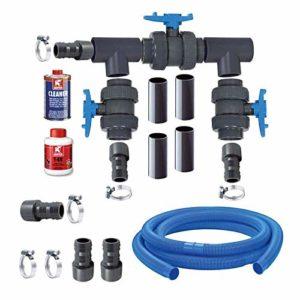 Aqua Forte Bypass Kit Pompe à Chaleur de Noir
