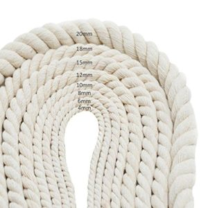 Corde de Bricolage Manuel Corde de Coton Blanc tressé Corde décorative Sacs Faisceaux de Rideaux de Corde attachée