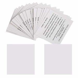 GWHOLE Lot de 20 Patchs de Réparation 5,5 x 6,5 cm Rustine de Réparation pour Piscines, Matelas, Bouées, Spas Gonflables