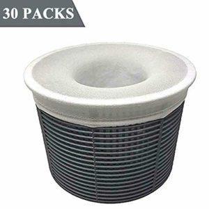 Jiusion Pack de 30 chaussettes de skimmer de piscine, Pack Savers Pool and Spa Perfect pour filtres, paniers et skimmers
