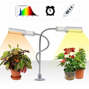 Lampe pour Plante, SHENKEY 45W Lampe à croissance intégrale Sunlike Plant avec minuterie 3H / 9H / 12H,Lampe Horticole pour plantes de la germination, plants, floraison à fructification