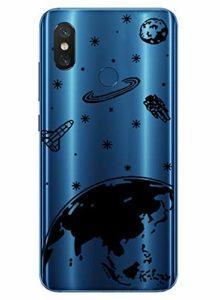 Oihxse Mode Transparent Silicone Case Compatible pour Xiaomi Redmi 5 Coque, Ultra Mince Souple TPU Mignon Animal Série Protection de Housse Anti-Scrach Bumper Etui -Planète