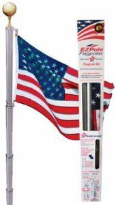 Ezpole Kit de mât de Drapeau pour Sports de Plein air 43,2 cm