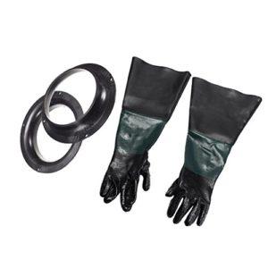 F Fityle Paire de Gants Résistants pour Sableuse Résistant, Souple, Flexible, Antidérapant Protection – 60cm #2