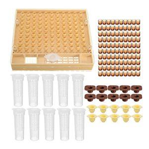 Nrpfell Kit d'Outil d'Apiculture 100 Tasses de cellules Kit d'outils d'abeilles Systeme d'elevage de Reines Complete Outil d'Apiculteur