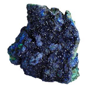 Shanxing Bleu Azurite Pierre Naturelle,Mineraux et Cristaux Géode Druse Pierres Collection Cristal Guérison Reiki Décoration