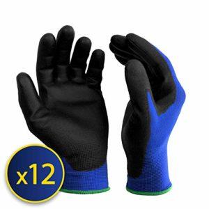 S&R Gants de Travail en Nylon et Polyuréthane Taille 9 – Lot de 12 paires
